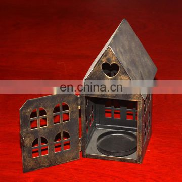 Vintage style hand made little house candle holder