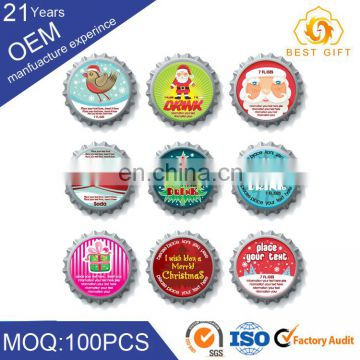 Silver Aluminum Cap for 28mm Neck Beer Glass bottle with Logo Printing
