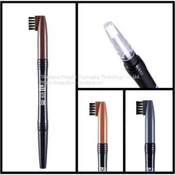 Toothbrush eyebrow pencil container/tube