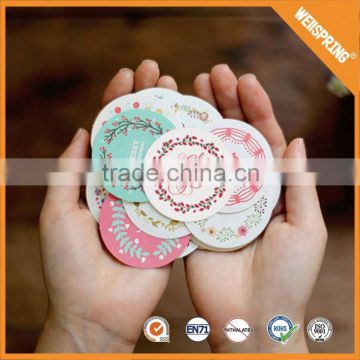 17-0170 China market bottle double sided vinyl sticker printing