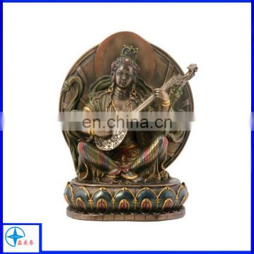 antique female resin buddha statues playing Pipa