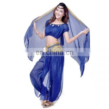 BestDance Belly dance tap dance costume Danse Du Ventre Costume set trousers + Beads Bells bra