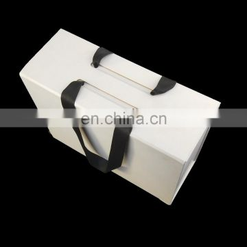Ribbon or cotton Handles Hard Cardboard baby blanket Packaging box