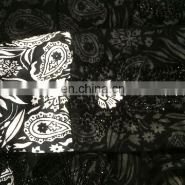 Women's Black Color Burkha With Diamond Stone Work & Printed Satin / Embroidery Work Islamic Style Burkha