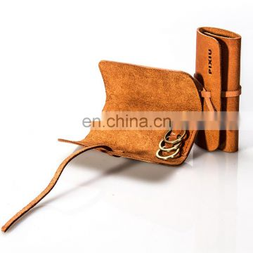 Hot Selling Excellect Style Low Price Handmade Check Leather Key Holder