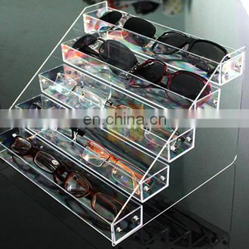 new products 2016 acrylic 5 tiles displaycase sunglasses rack