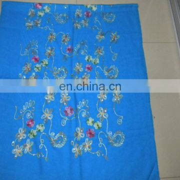 double cashew embroider scarf 170*68cm lady's scarf woman shawl