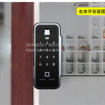 F5/F6-Fingerprint lock for glass door