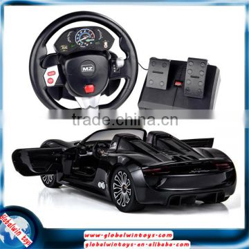 2016 wholesale licensed toys! 1:14 electric diecast model car with openable doors, 4CH rc car with steering control and pedal                                                                         Quality Choice