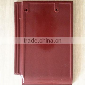 High strength colorful stone coated roofing tile, interlocking glazed clay roof tile prices
