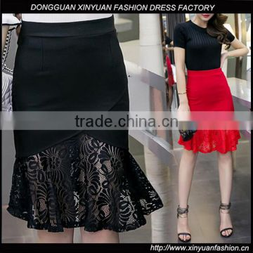 c0d12557fc Latest Custom Sexy High Waist Office Wrap Skirts Designs Ladies Long Skirt  Lace Wholesale of Women skirts from China Suppliers - 157163124