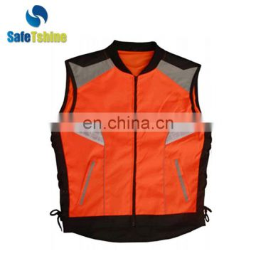 Hot sell high visibility unisex outdoor sports & leisure safety vest