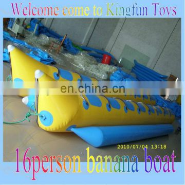 16people inflatable lake banana boat
