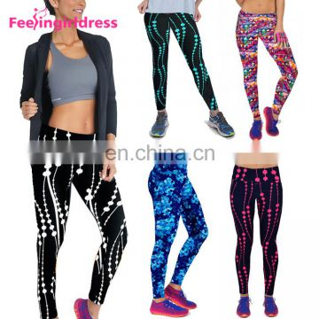 New Style Cheap 3D Print Custom Made High Wasted Woman Tights Leggings