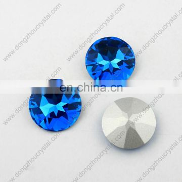 Light smoked topaz colored round shape fancy crystal stone for jewelry