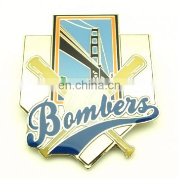 POPULAR SPORTS BASEBALL SOFT ENAMEL GLITTER PIN BADGE LAPEL PIN