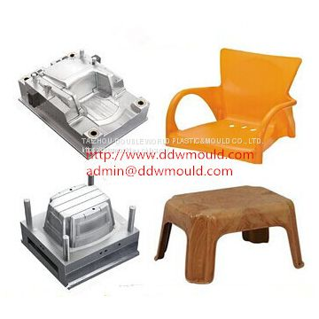 DDW Household Injection Chair Mold Plastic Injection Chair Mold exported to Mexico