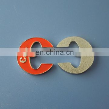 customized special sahpe shopping enamel trolley token holder