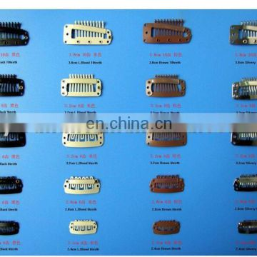 2.3 cm Stainless steel wig clips/ hair extension clips/Hair extension clips with rubber