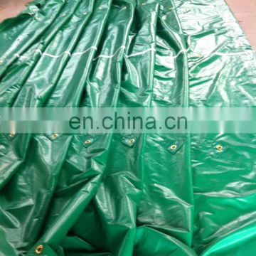 pvc coated tent fabric and finished truck cover with reinforced brass grommet in the middle pvc tarpaulin