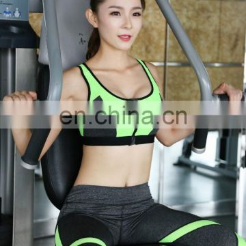 Professional gathered shockproof fashionable women sport bra