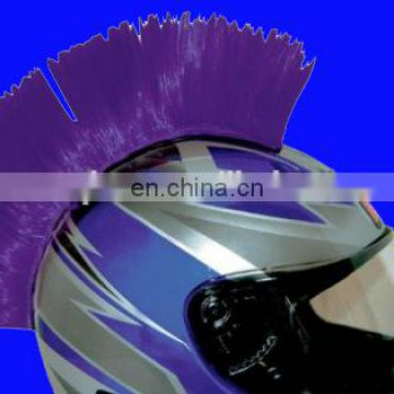 Purple racing Helmet Mohawk Motorcycle Helmet wig helmet hair