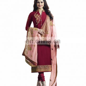 2017 Women Wedding Party Wear Semi-Stitched Straight Cut Salwar kameez (salwar kameez Suits)
