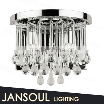 architectural design alibaba low price chrome top quality wall light crystal raindrop chandelier for living room