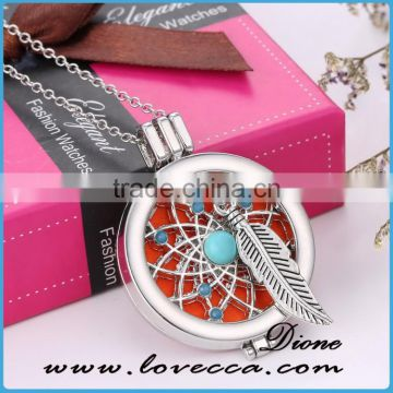 Fancy perfume locket necklace wholesale aromatherapy diffuser necklace