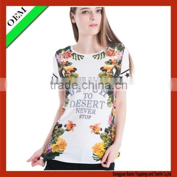 China Women full print t-shirt custom t shirt wholesale