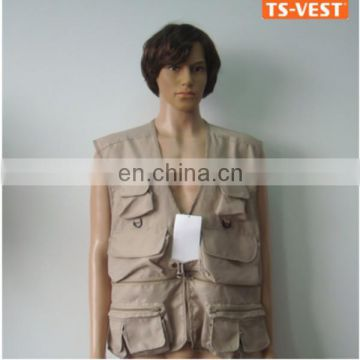 new design sleeveless cheap fishing vest