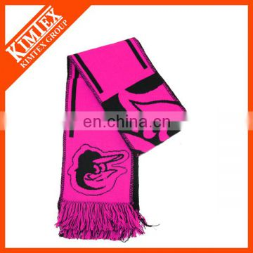 Promotional custom woven fan scarf