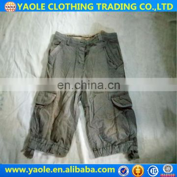 used clothes high quality short pants for men
