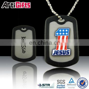 Custom design metal anodize aluminum dog footprint pet tag