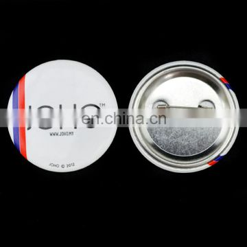 custom logo tin button badge