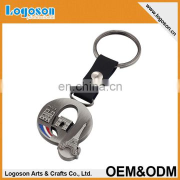 Custom New Arrival Promotional Fashion Paris souvenir Metal Keychain