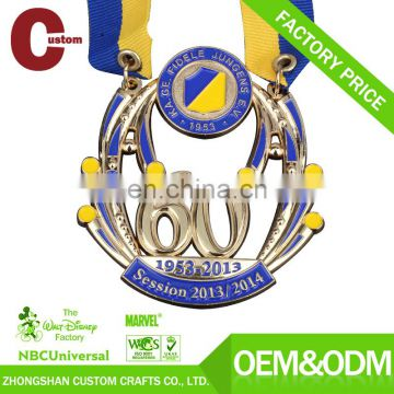 Promotional new products expert factory custom ribbon award medal
