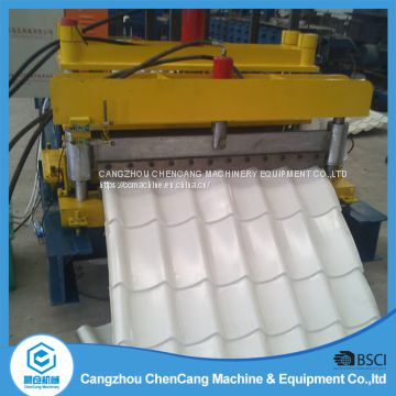 1100 Arc Bias Glazed Tile Roll Forming Machine