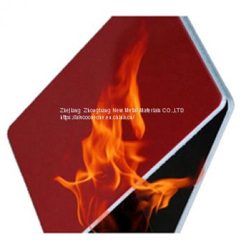 Alucoone red family 5mm decorative fireproof aluminum composite panel