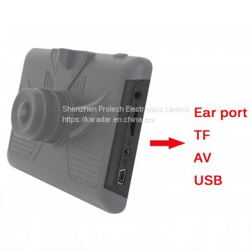 High Quality DVR Camera car gps navigator support front and back two way recording