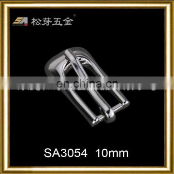 Song A Metal Silver plated High quality metal narrow width pin buckle filleted corner