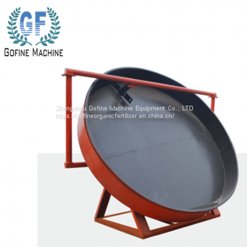 Rotary drum granulation machine for organic fertilizer production