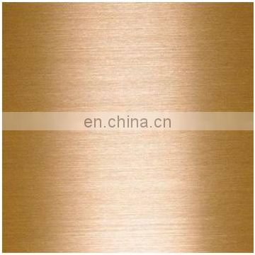 Cheap Price Colored Golden Black Sapphire Rose Gold Hairline Stainless Steel Sheet