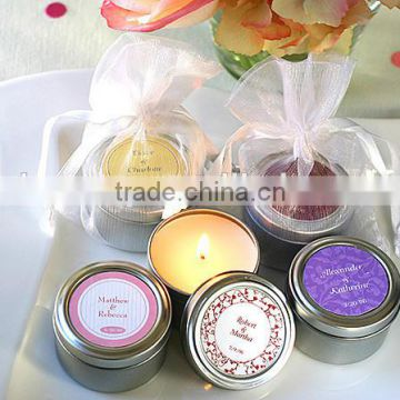 Wholesale tin box round scented candles natural soy wax tin candle 6*4cm Height XM-T005                                                                         Quality Choice