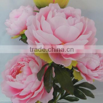 Pink and white artificial peony silk peony flowers wholesale peony silk flower                                                                                                         Supplier's Choice