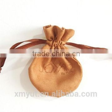 custom suede drawstring bag/suede jewelry pouch                                                                         Quality Choice