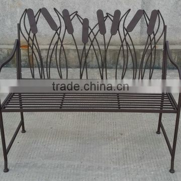 Outdoor bench with animal back design
