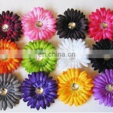 "4"" artificial daisy flower hair flowers gerbera daisy with clip"