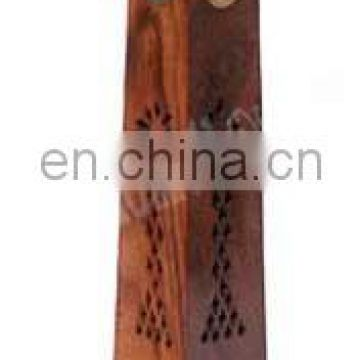 TOWER WOODEN INCENSE HOLDER BOX HUT SHAPE