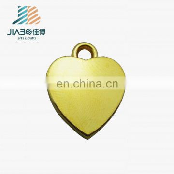 heart shape custom gold plating charm with your own logo